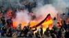 GEST SCANDALOS! Fanii echipei ruse Zenit Sankt-Petersburg au dat foc steagului Germaniei