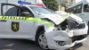 Accident controversat în capitală. O maşină a Inspectoratului Naţional de Patrulare a fost făcută ZOB