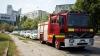 O casă din centrul Chişinăului, în flăcări. La  faţa locului s-au deplasat trei autospeciale (VIDEO)