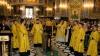 După prima săptămână de post, mulţi creştini au venit la biserică pentru euharistie