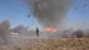 Imagini spectaculoase! O tornadă a apărut pe neprins de veste din foc (VIDEO)