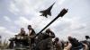 Manevre periculoase la Sloviansk! Momentul în care un avion de luptă era cât pe ce să atingă firele electrice (VIDEO)