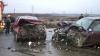 (VIDEO) Trei oameni au fost răniţi în urma unui accident pe şoseaua Chişinău-Leuşeni