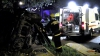 Accident tragic la Truşeni! Un tânăr a murit pe loc după ce a ajuns cu maşina într-un gard de beton (VIDEO)