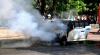Incendiu în centrul capitalei! O maşină s-a aprins din mers (VIDEO)