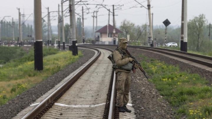 Separatiştii proruşi au preluat controlul asupra gării din Doneţk. Circulaţia feroviară a fost suspendată