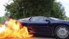 Nebunie curată! Un Jaguar XJ220 ia foc în urma unui test (VIDEO)