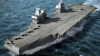 Cel mai mare portavion construit vreodată de Marea Britanie a fost dezvăluit (GALERIE FOTO)