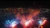 Spectaculos! Vezi cum arată un foc de artificii filmat de o dronă