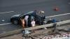 DEZASTRU! Cum au fost distruse 11 automobile de lux transportate de un camion pe şosea (FOTO)