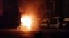 MARTOR OCULAR: Maşina unui poliţist a fost mistuită de flăcări (VIDEO)