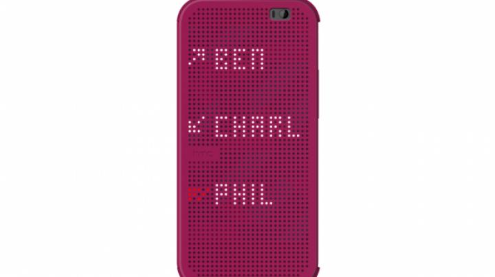 HTC îmbunătăţeşte funcţiile husei Dots View. Ce poţi vedea pe coperta lui HTC One (M8)