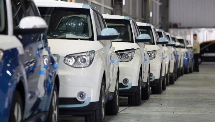 Kia a început producţia de serie a unui un model 100% electric (FOTO)
