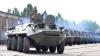 NO COMMENT: Militarii moldoveni au pornit motoarele unor blindate pentru o demonstrație de forță (FOTO/VIDEO)
