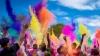 Spectacol de lumini la Mileştii Mici. Tinerii democraţi au organizat un eveniment distractiv şi plin de culoare (VIDEO)