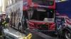 Clipe de groază în centrul New York-ului. Două autocare turistice supraetajate s-au ciocnit