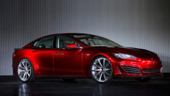 Saleen dezvăluie o nouă versiune a electromobilului Tesla Model S (FOTO)