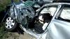 Accident grav la Pârliţa, Ungheni. Un bărbat a murit după ce un automobil a derapat de pe traseu