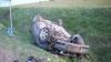 Accident spectaculos pe un drum din Rusia. A ajuns în şanţ după ce a încercat să depăşească trei autovehicule (VIDEO)