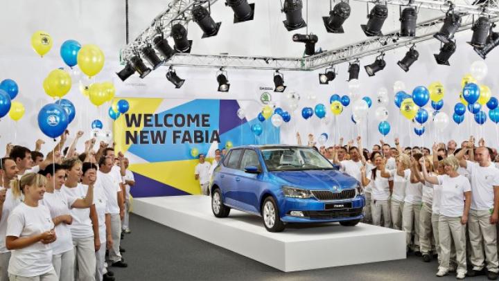 Cehii au lansat producţia noii generaţii Skoda Fabia (FOTO)
