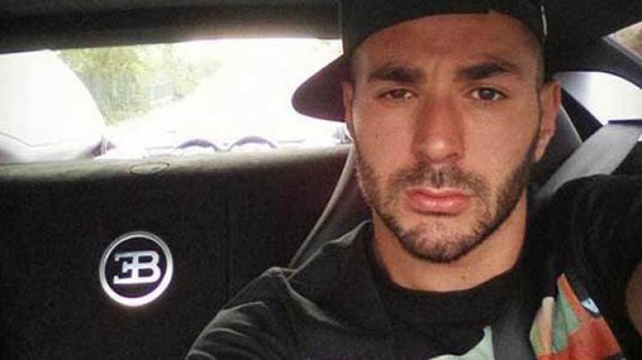 Karim Benzema şi-a tras Veyron ca să-şi facă... selfie la volan