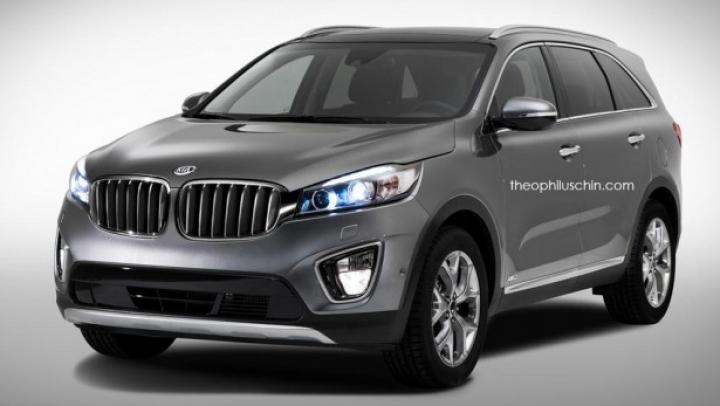 Exerciţii de fantezie: Cum ar putea arăta noile modele Kia cu tradiţionala grilă BMW