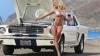 Imaginile cu un Ford Mustang se înfierbântă, dacă de capotă se apropie blonda Colleen Shannon (FOTO)