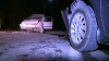 A urcat beat la volan şi a provocat un accident la Ialoveni. Şoferul s-a dat în spectacol în faţa poliţiştilor (VIDEO)