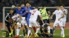 Bătaie la un meci din preliminariile EURO 2016. Jucătorii albanezi şi-au atacat adversarii cu pumnii