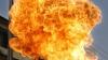Incediu de proporţii la Cojuşna. Un depozit a fost mistuit de flăcări