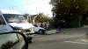 Accident grav la Copăceni, Sângerei. Un automobil a ajuns într-un şanţ după ce a fost tamponat de un microbuz de rută (VIDEO)