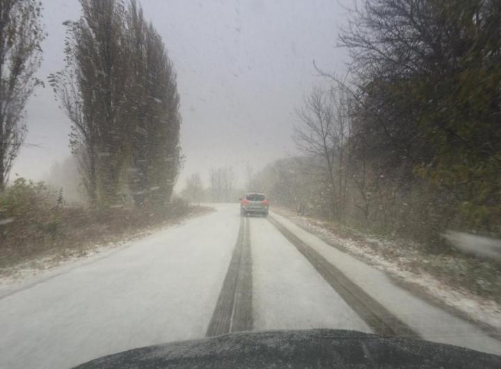 A nins peste Moldova! Primii fulgi au căzut în nordul ţării (FOTO/VIDEO)