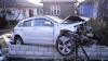 (VIDEO) Accident la Făleşti. Un bărbat a fost internat, după ce maşina sa a fost aruncată violent într-un gard