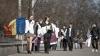 Flash-mob în centrul capitalei. ''Guvernanții mint frumos, câtă vreme rod un os''