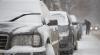 Iarnă grea în Rusia: Sute de zboruri au fost amânate, iar zeci de maşini sunt blocate în trafic