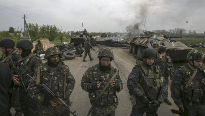 Un vehicul cu rebeli a fost nimicit în preajma Aeroportului din Doneţk