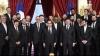 Naţionala Franţei, în vizită la Palatul Elysee. Handbaliştii au fost felicitaţi de Francois Hollande