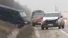 (VIDEO) Pasagerii autobuzului implicat în accident la Stăuceni, nevoiți să ajungă în capitală pe JOS