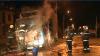 Incendiu în centrul Chişinăului. Un camion s-a aprins din cauze necunoscute (VIDEO)