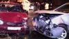 Accident cu victime la Ciocana: Maşina unui şofer fără acte a intrat frontal într-un automobil