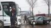 ACCIDENT GRAV la Bălţi: Un bărbat a murit, după ce o maşină s-a lovit cu un autobuz (VIDEO)