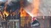 Salvatorii au reuşit să evite o explozie într-un incendiu localizat la Cahul (VIDEO)