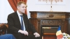 Preşedintele României, Klaus Iohannis, întâmpinat la Chişinău
