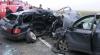 Ciocnire frontală pe traseul Leuşeni-Chişinău. Doi bărbaţi au fost spitalizaţi