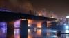 Un pod din Varşovia, cuprins de flăcări. 40 de unități de pompieri s-au luptat cu focul (VIDEO)
