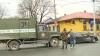 Accident în centrul capitalei. Un camion s-a ciocnit cu un automobil (VIDEO)
