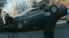 ACCIDENT în sectorul Buiucani al capitalei. O maşină S-A RĂSTURNAT pe stradă (VIDEO)