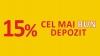Cel mai bun depozit al anului 2015 - 15% anual!