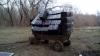 Au umplut o căruţă până la limită şi au adus-o până la Prut. Afacerea ilegală a trei moldoveni (FOTO)