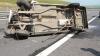 Urmărire ca-n filme. Un şofer s-a răsturnat cu maşina de mai multe ori (VIDEO)